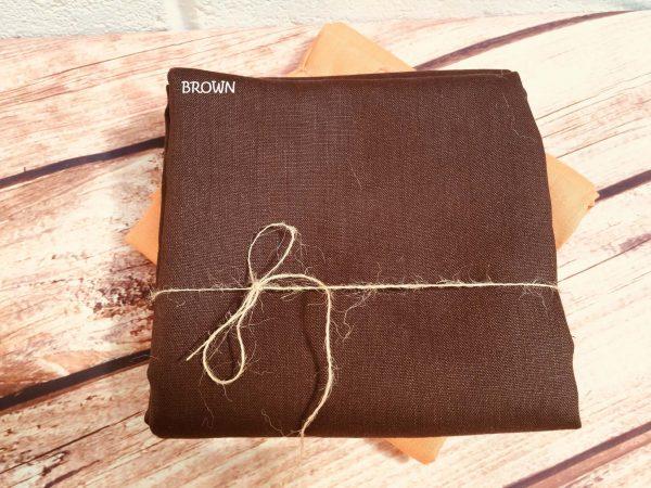 Soft Linen Fabric Material -  100% Linens Textile for Home Decor, Curtains, Clothes - 140cm wide - Plain BROWN