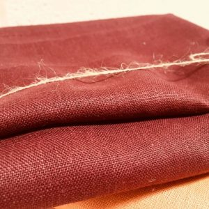 Soft Linen Fabric Material -  100% Linens Textile for Home Decor, Curtains, Clothes - 140cm wide - Plain BURGUNDY Red