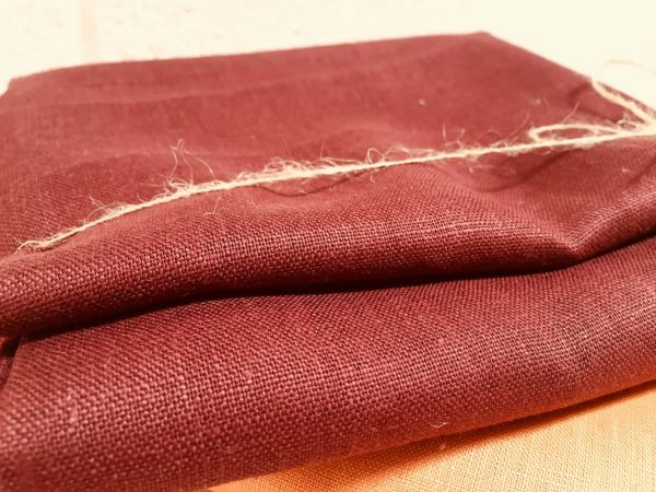 Soft Linen Fabric Material -  100% Linens Textile for Home Decor, Curtains, Clothes - 140cm wide - Plain BURGUNDY Red