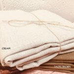 Soft Linen Fabric Material - 100% Linens Textile for Home Decor, Curtains, Clothes - 140cm wide - Plain CREAM