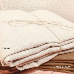 Soft Linen Fabric Material - 100% Linens Textile for Home Decor, Curtains, Clothes - 140cm wide - Plain CREAM