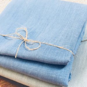 Soft Linen Fabric Material - 100% Linens Textile for Home Decor, Curtains, Clothes - 140cm wide - Plain DENIM BLUE