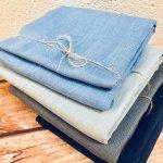 Soft Linen Fabric Material - 100% Linens Textile for Home Decor, Curtains, Clothes - 140cm wide - Plain DENIM BLUE