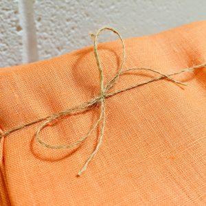 Soft Linen Fabric Material -  100% Linens Textile for Home Decor, Curtains, Clothes - 140cm wide - Plain ORANGE