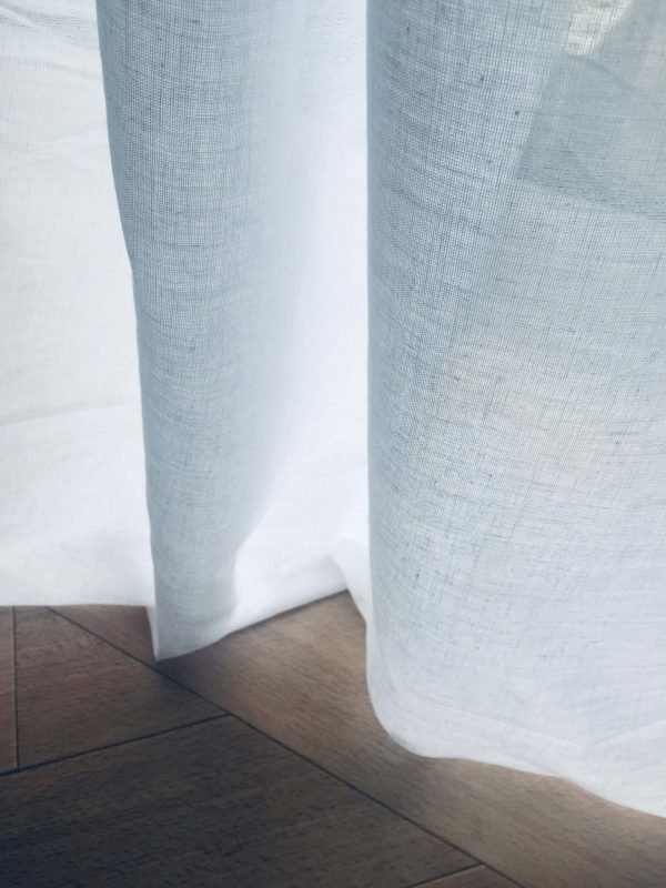 100% Cotton Gauze MUSLIN Fabric Voile Curtains Fine Cheese Cloth - Linen Look, Event Decoration, Wedding Textile - 245cm extra wide - WHITE