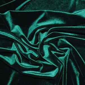 Dark Green Decor Velvet Fabric Soft Strong Velour Material - home decor, curtains, upholstery, dress - 160cm wide