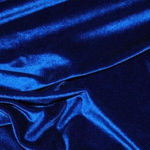 Royal Blue Decor Velvet Fabric Soft Strong Velour Material - home decor, curtains, upholstery, dress - 160cm wide