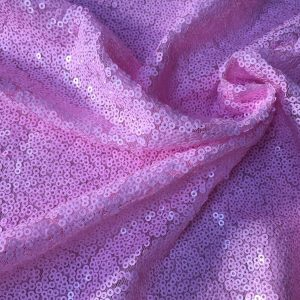 3mm Sequin Fabric material - Sparkling Glitter Sequins  - 47''/ 120cm wide - Matte Pink Paillettes