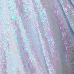 3mm Sequin Fabric material - Sparkling Iridescent Pink White Sequins, Pearl Iridescent, Glitter Sequins  - 47''/ 120cm wide
