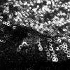 3mm Mini Sequin Fabric Material Glitter Paillettes Sequins, 1 way stretch -130cm wide - MATTE BLACK
