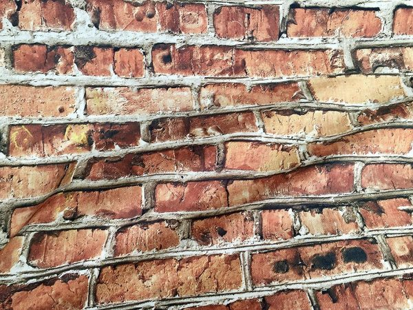 BRICK WALL Effect Cotton Fabric - Red Bricks Stone Wall Print Cloth Material - Harry Potter 9 3/4 Platform Backdrop - 280cm extra wide