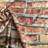 BRICK WALL Effect Cotton Fabric - Red Bricks Stone Wall Print Cloth Material - Harry Potter 9 3/4 Platform Curtains Backdrop - 140cm wide