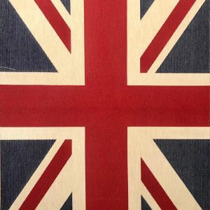 Union Jack Flag Retro Linen Look Heavy Jacquard Gobelin Upholstery Cotton Bag Cushion Panel Fabric UK Banner -70cm x 48cm