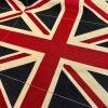 Union Jack Flag Retro Linen Look Heavy Jacquard Gobelin Upholstery Cotton Bag Cushion Panel Fabric UK Banner -70cm x 48cm