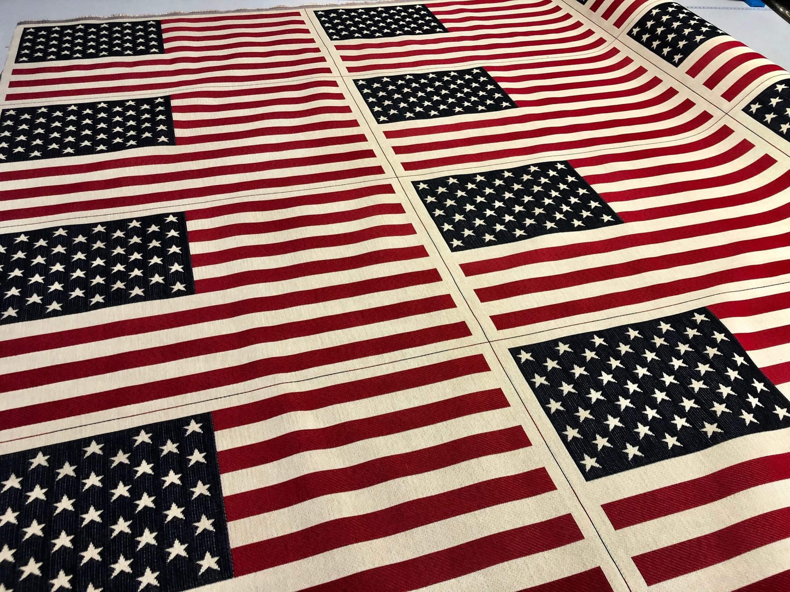 American flag Printed Fabric Panel Make A Cushion Upholstery Craft