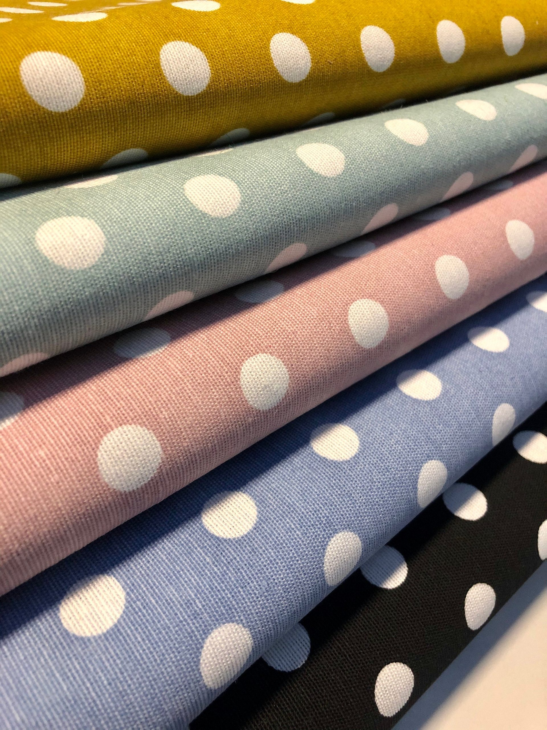 Dots Polycotton Material Shabby Chic