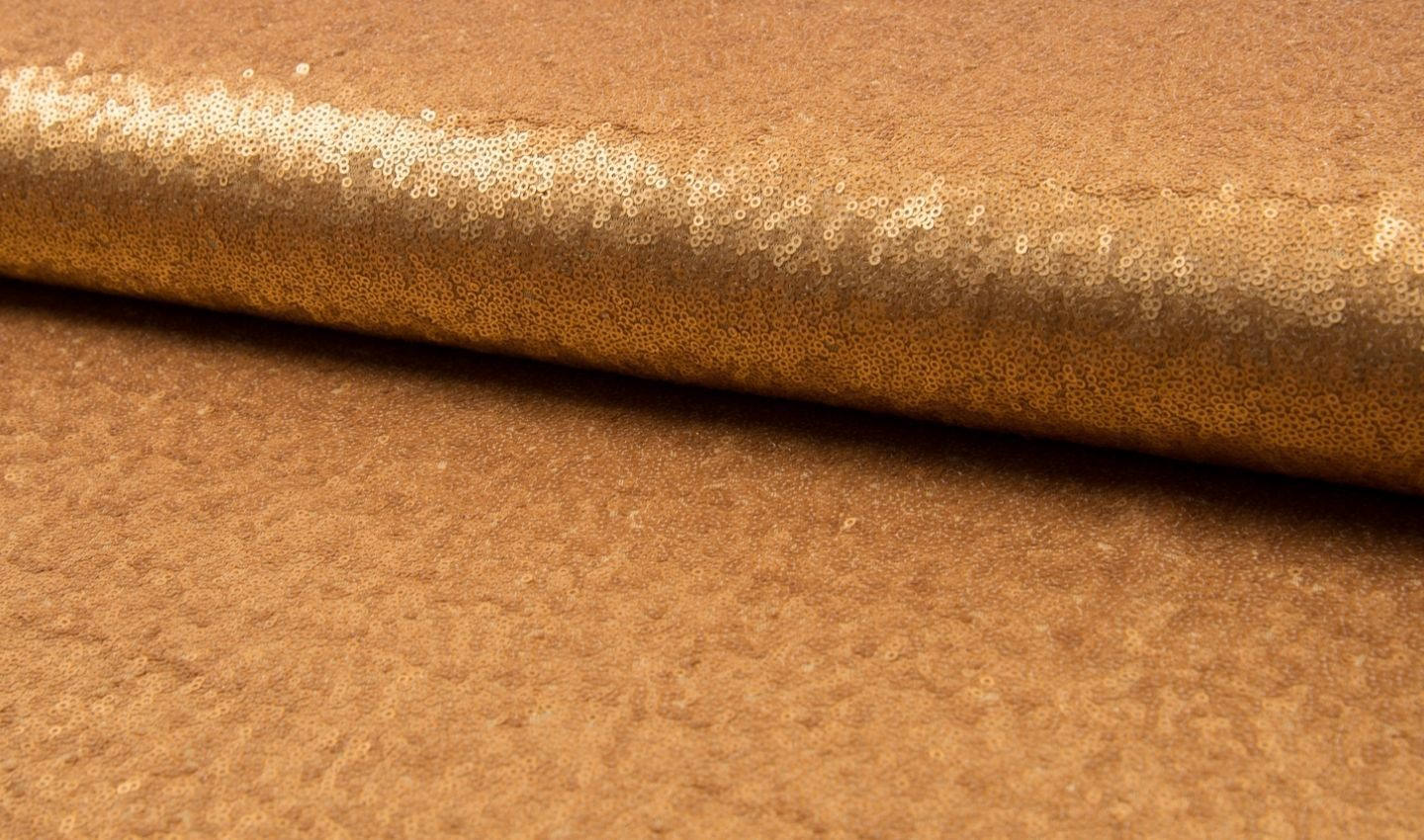 3mm Mini Sequin Fabric material, 1 way stretch /130cm wide / Matte Gold Sequins