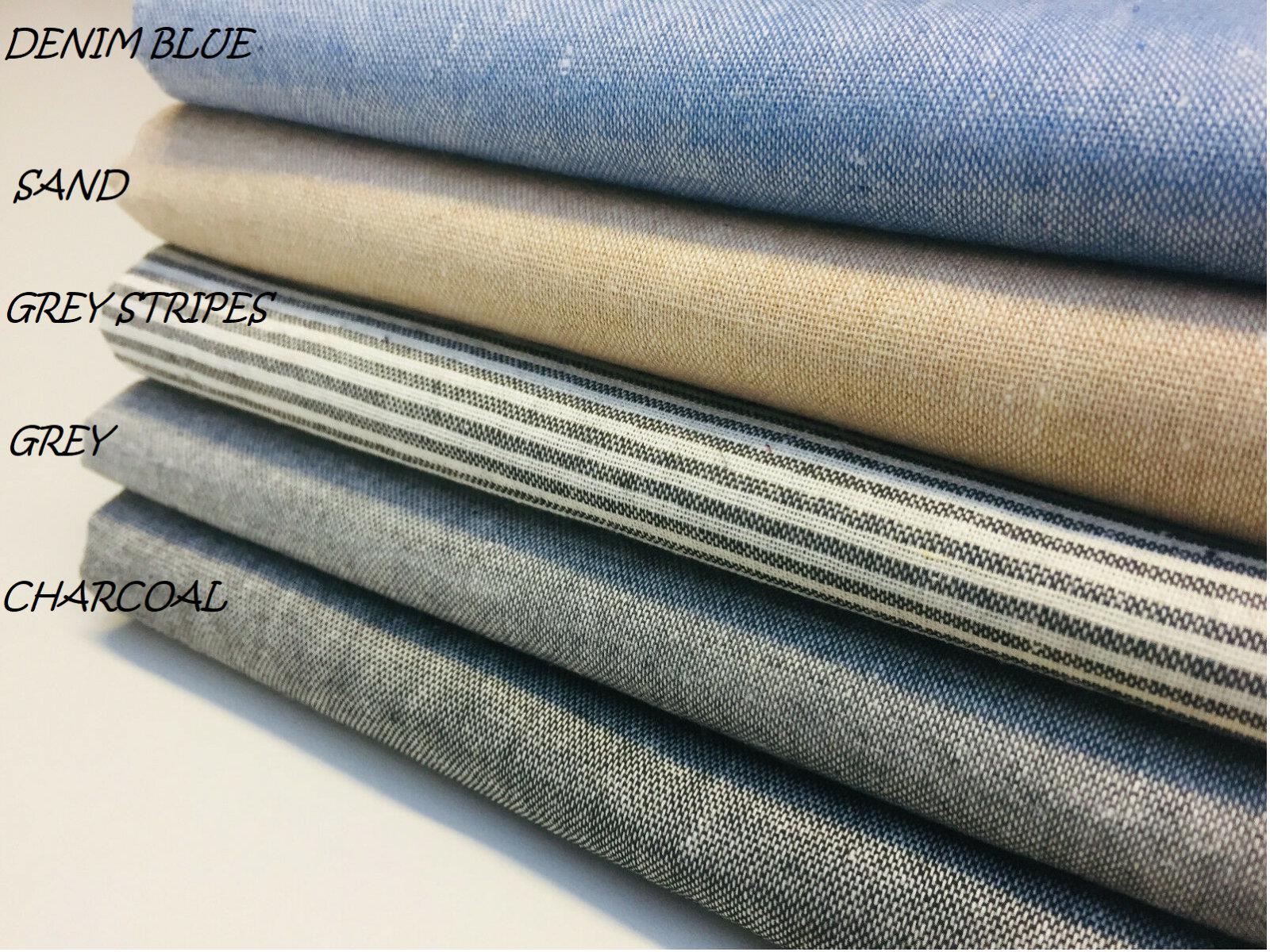 """4oz CHAMBRAY Denim Cotton Fabric Jean Shirt Dress Material Light Weight Soft – 55""""/140 cm Wide"""