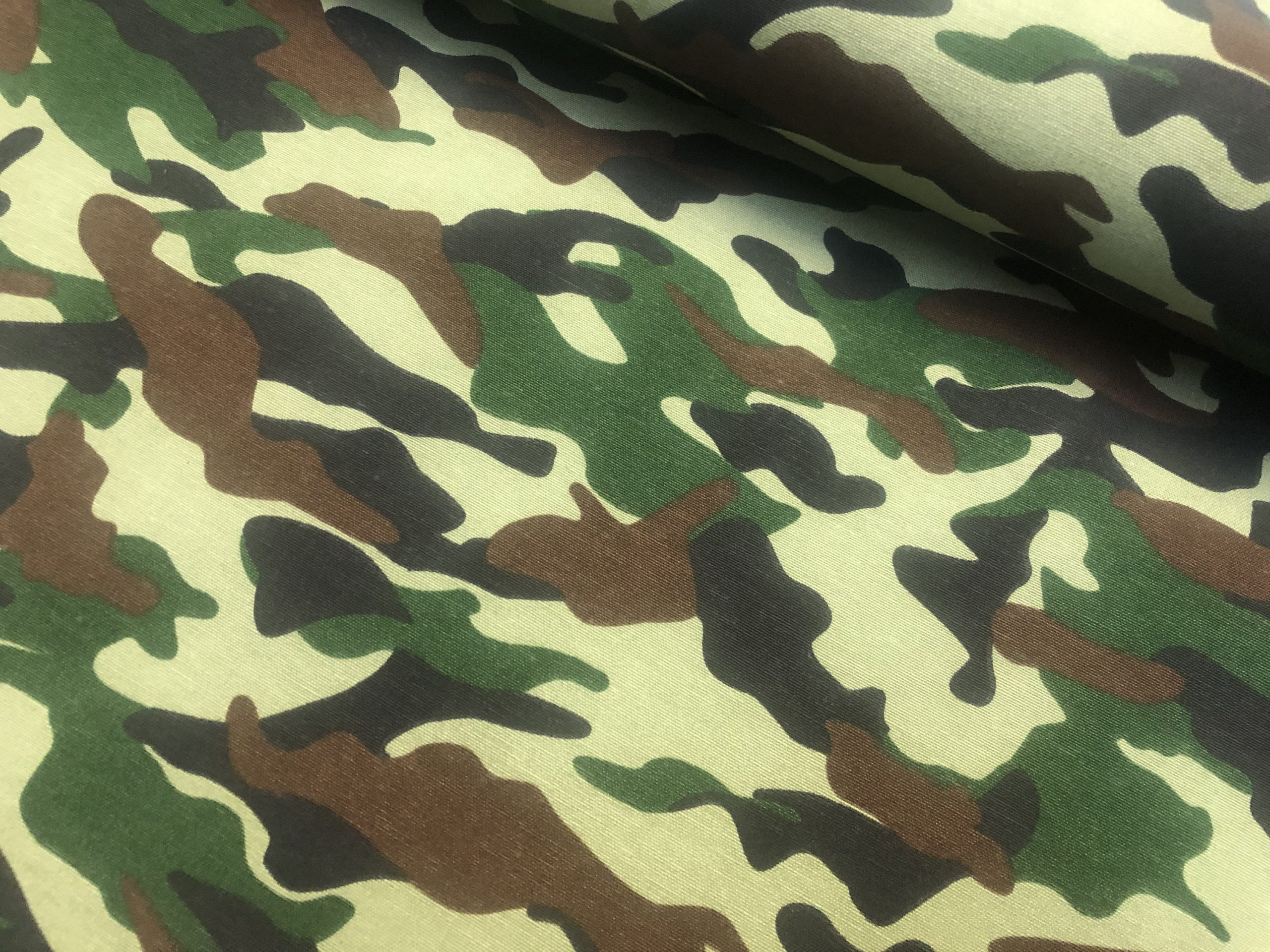 Green Army Camo Camouflage Fabric - Curtain Upholstery ...