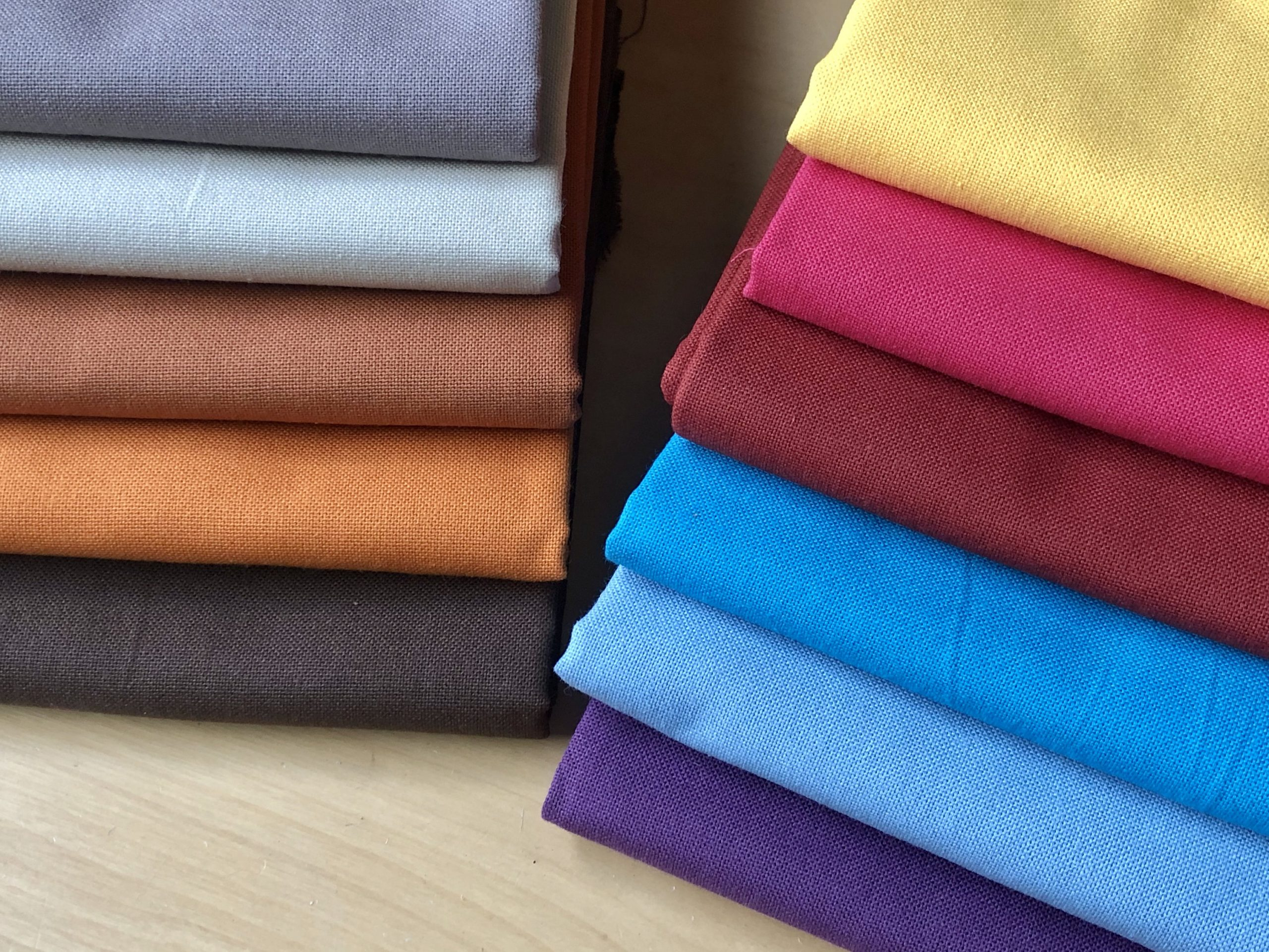 """Plain Medium Weight Cotton Fabric For Dressmaking Curtains Light Upholstery Material Mixed Colours – 110""""/280cm Extra Wide Canvas"""