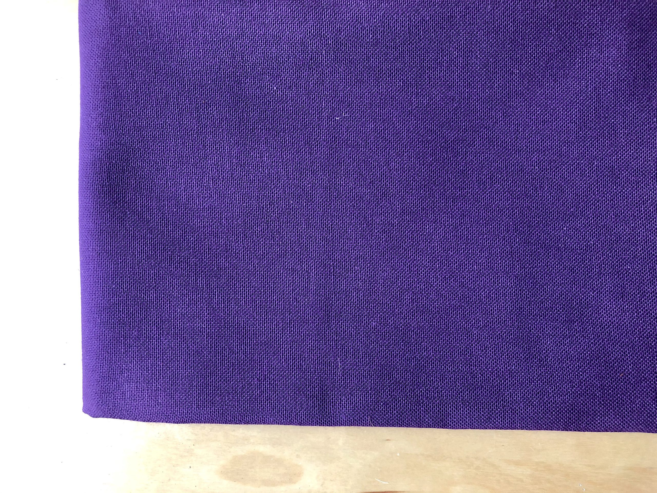"""PURPLE – Plain Medium Weight Cotton Fabric For Dressmaking Curtains Light Upholstery Canvas Material – 55""""/140cm Wide"""