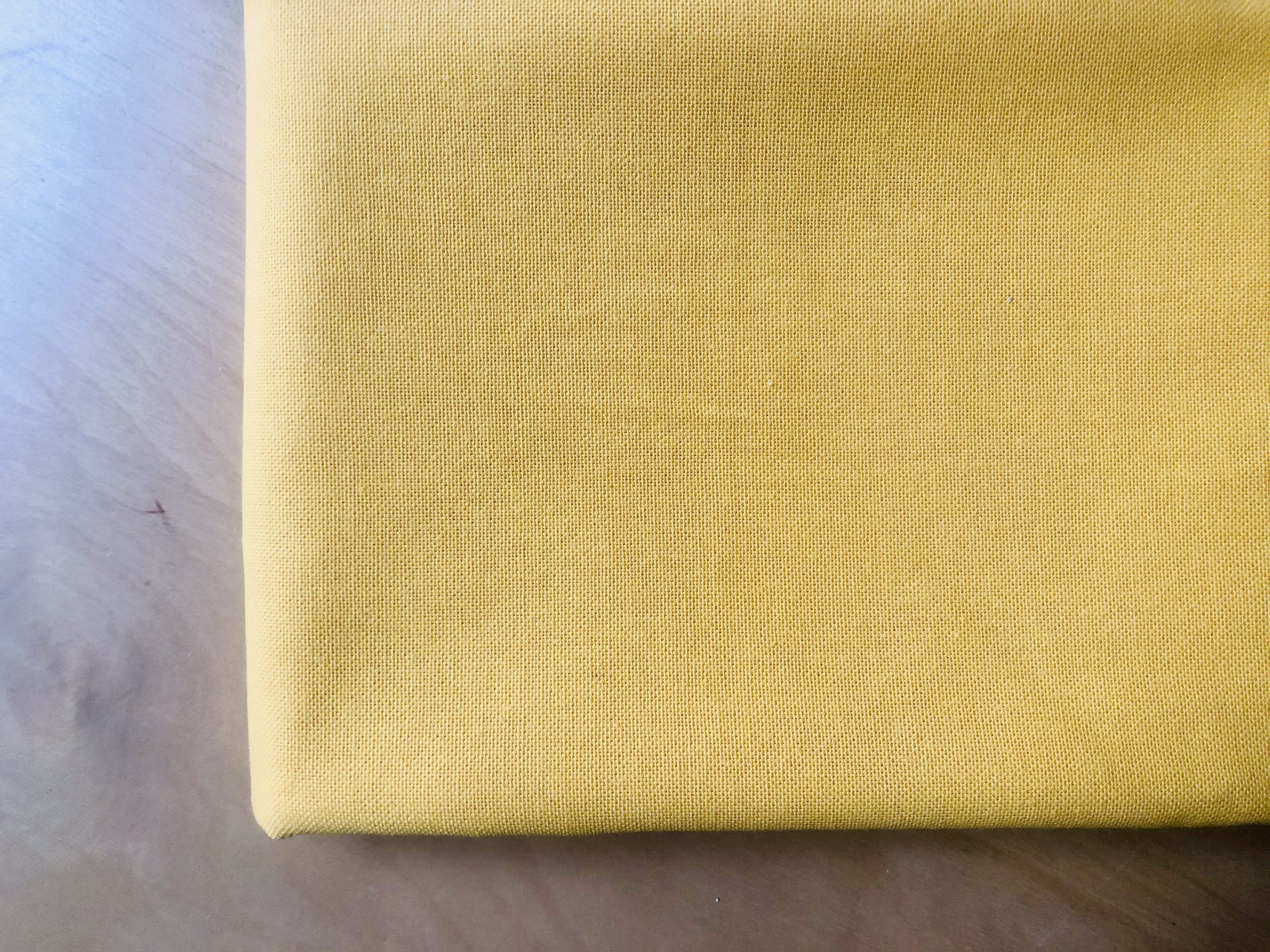 """YELLOW – Plain Medium Weight Cotton Fabric For Dressmaking Curtains Light Upholstery Canvas Material – 110""""/280cm Wide"""