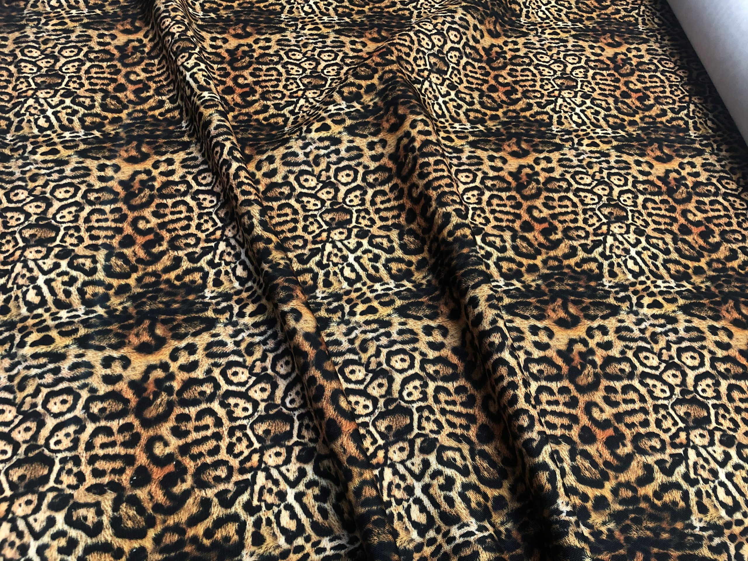 "14OZ Soft Leopard Panther Animal Print Waterproof Polyester Canvas Outdoor Fabric For Cushion Gazebo – 57""/145cm Wide"