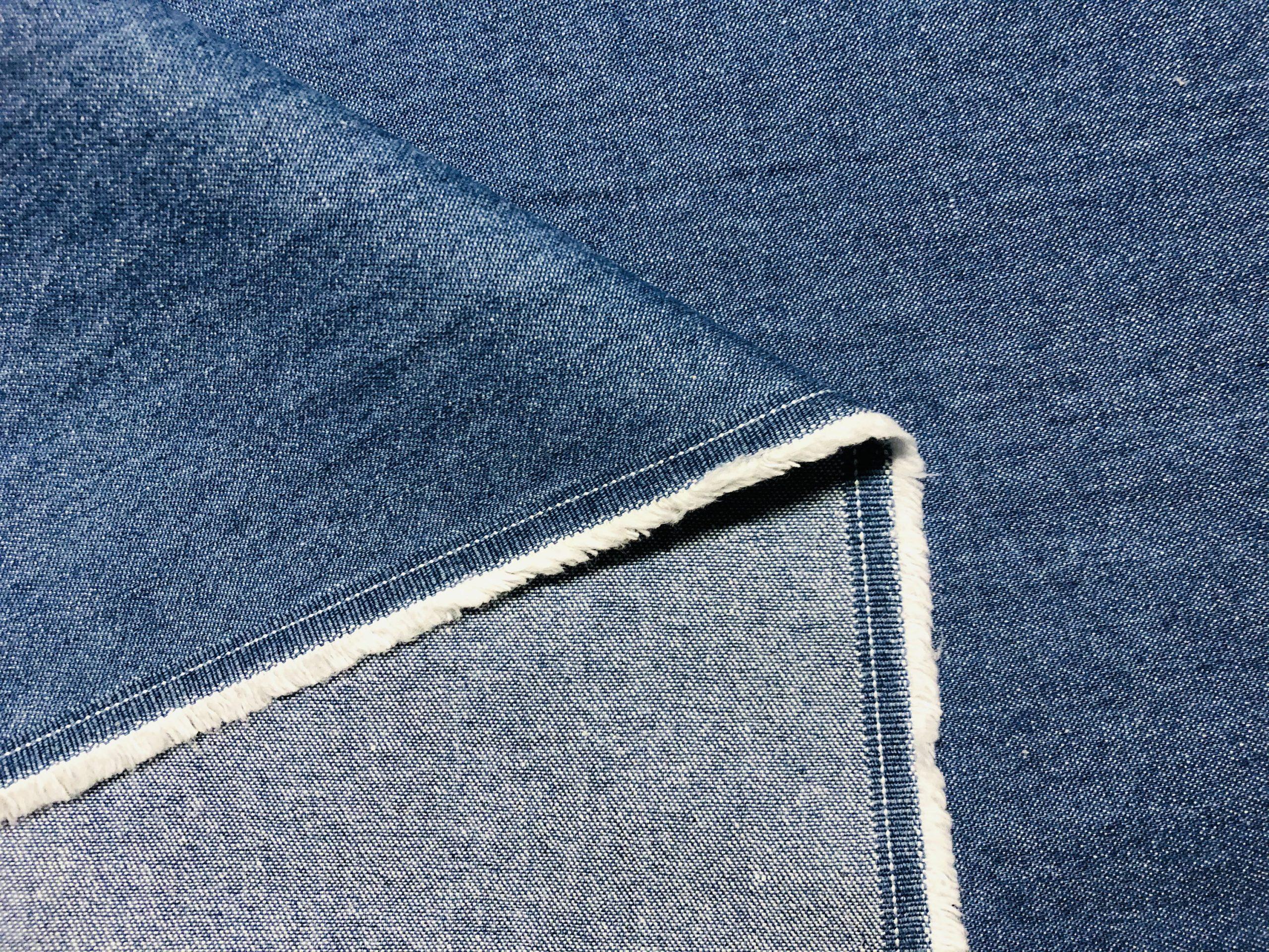 """7.5oz Classic Light Blue Denim Fabric Jeans Cotton Material – 148cm/57"""" Wide"""