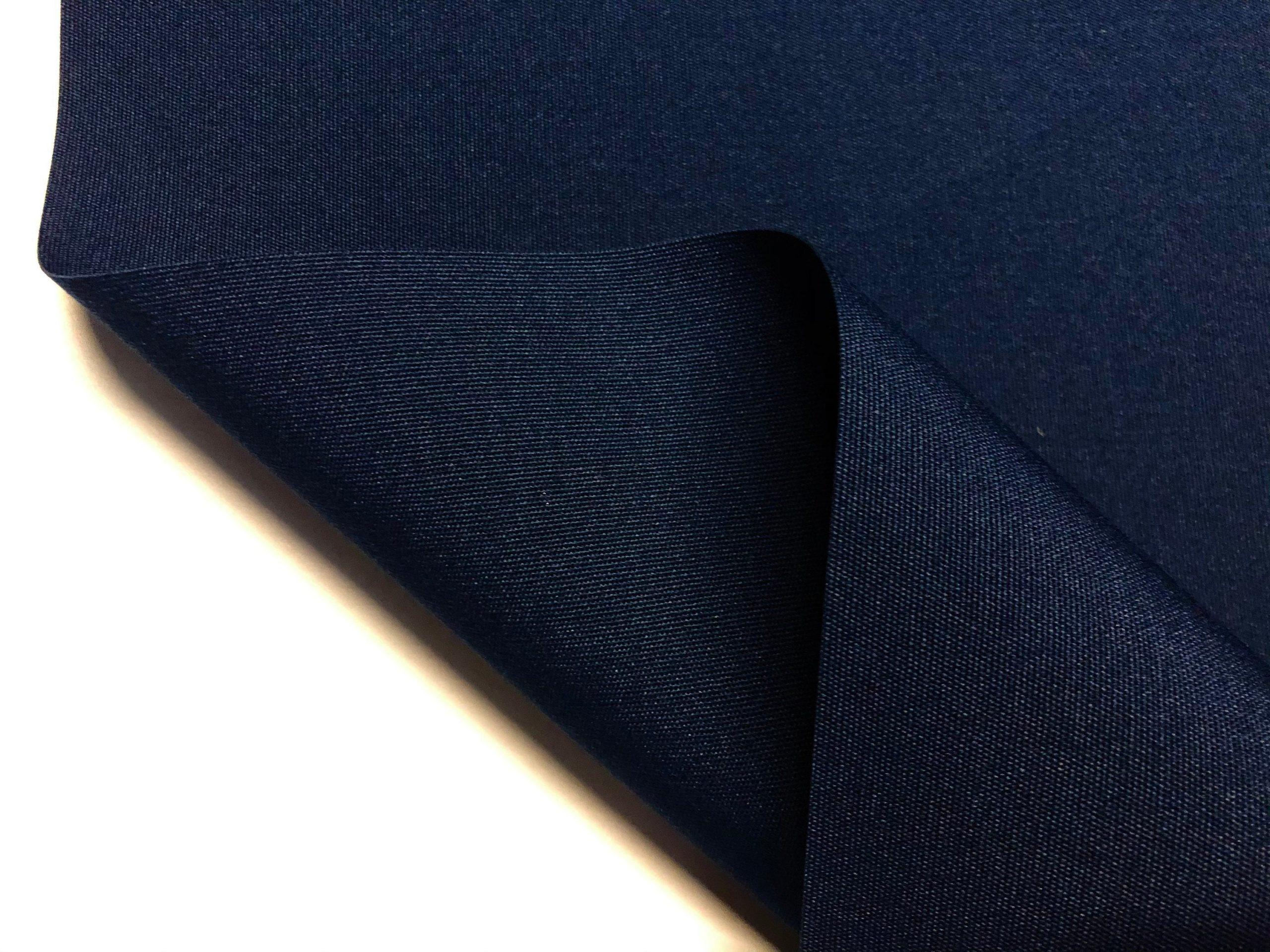 "Navy Blue Plain DRALON Outdoor Fabric Solid Acrylic Teflon Waterproof Upholstery Material For Cushion Gazebo Beach – 125""/320cm Wide"
