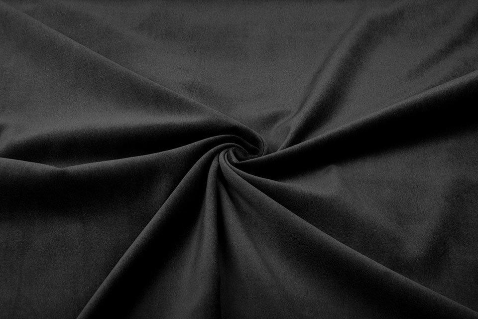 BLACK Decor Velvet Fabric Soft Strong Velour Material – home decor, curtains, upholstery, dress – 160cm wide
