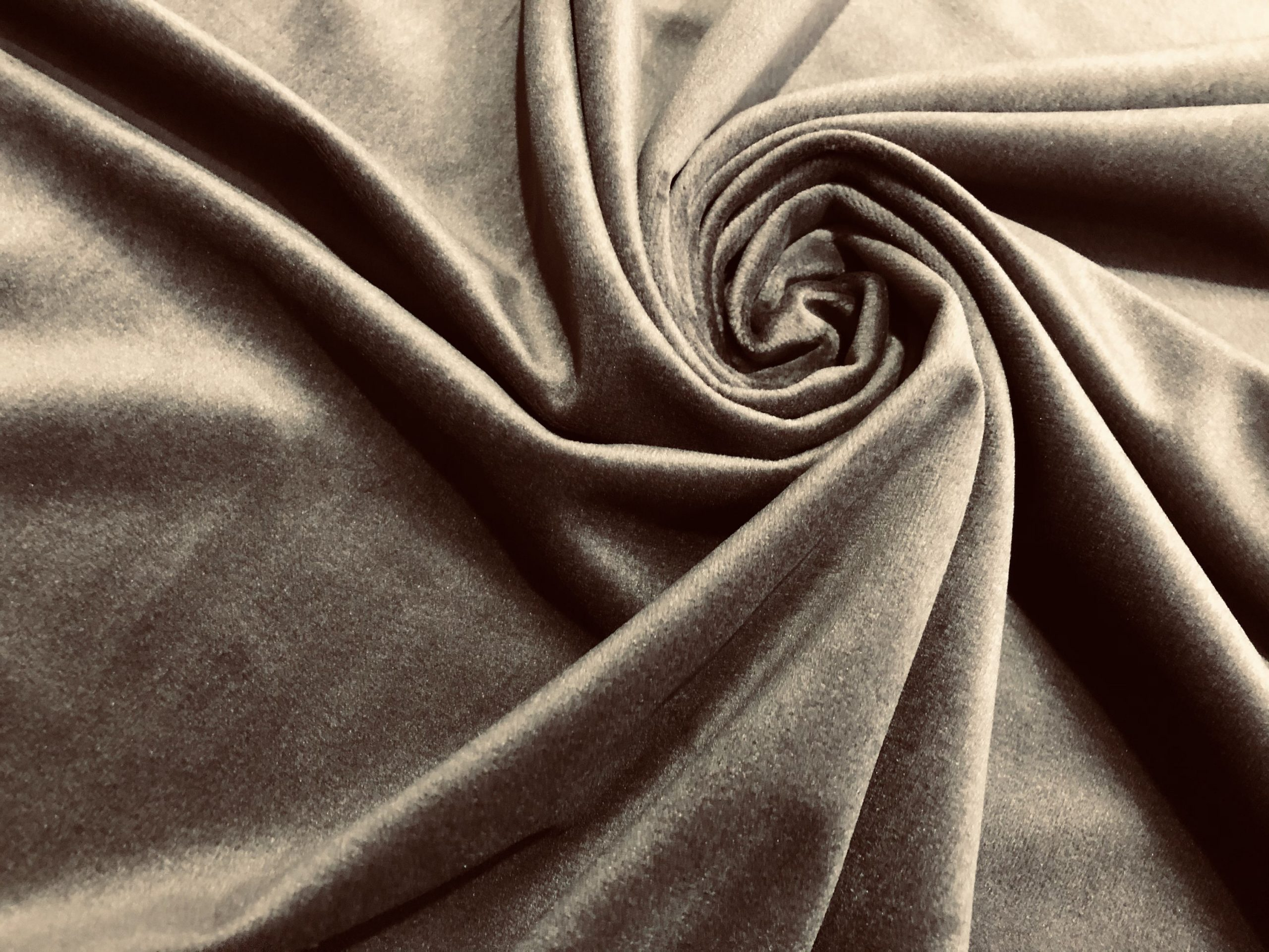 """LUX Velvet Fabric Super Soft Strong Velour Material Home Decor Curtains Upholstery Dressmaking – 59""""/150 cm Wide – BROWN"""