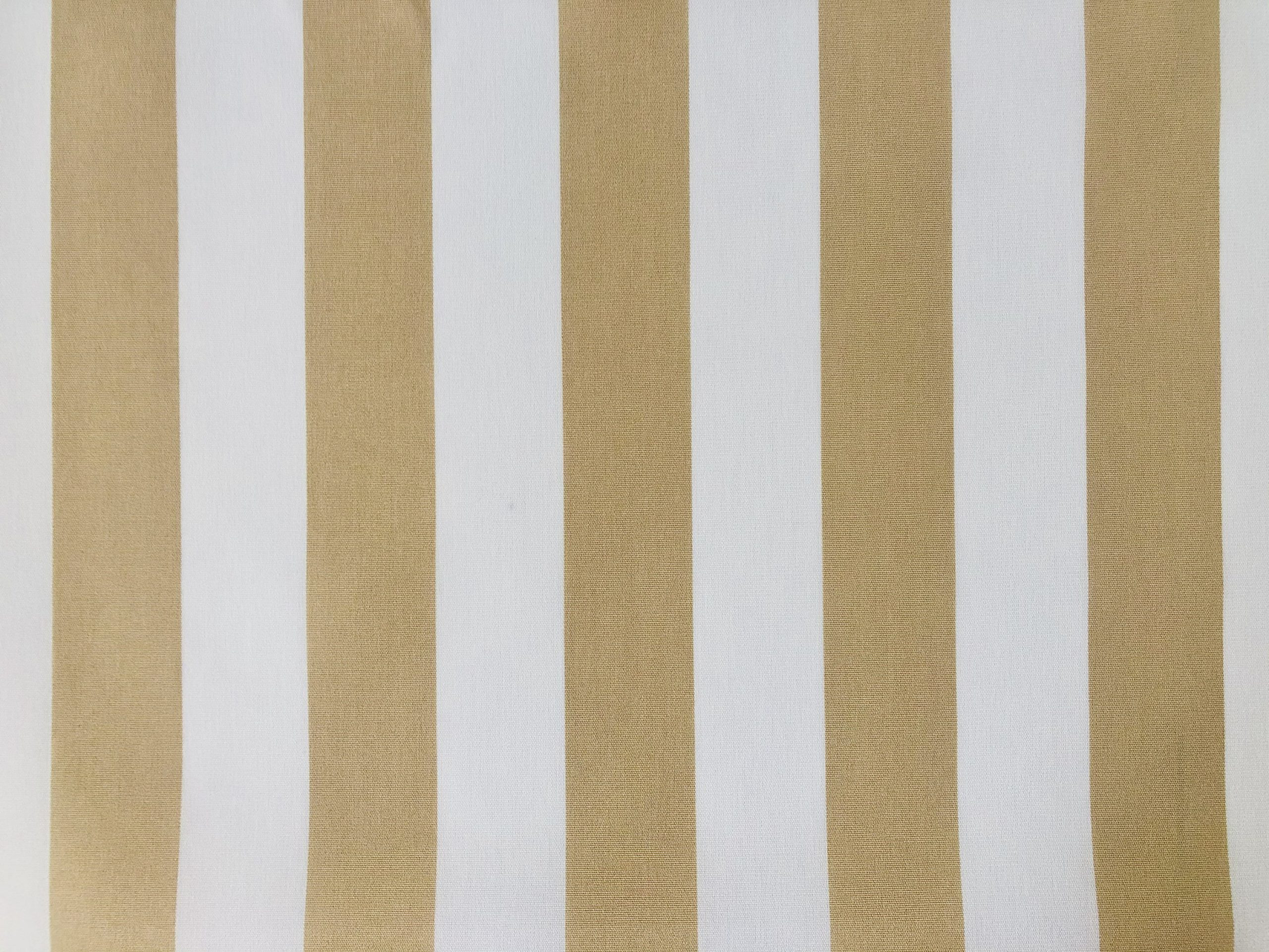 """Beige & White Striped DRALON Outdoor Fabric Acrylic Teflon Waterproof Upholstery Material For Cushion Gazebo Beach – 125""""/320cm Extra Wide"""
