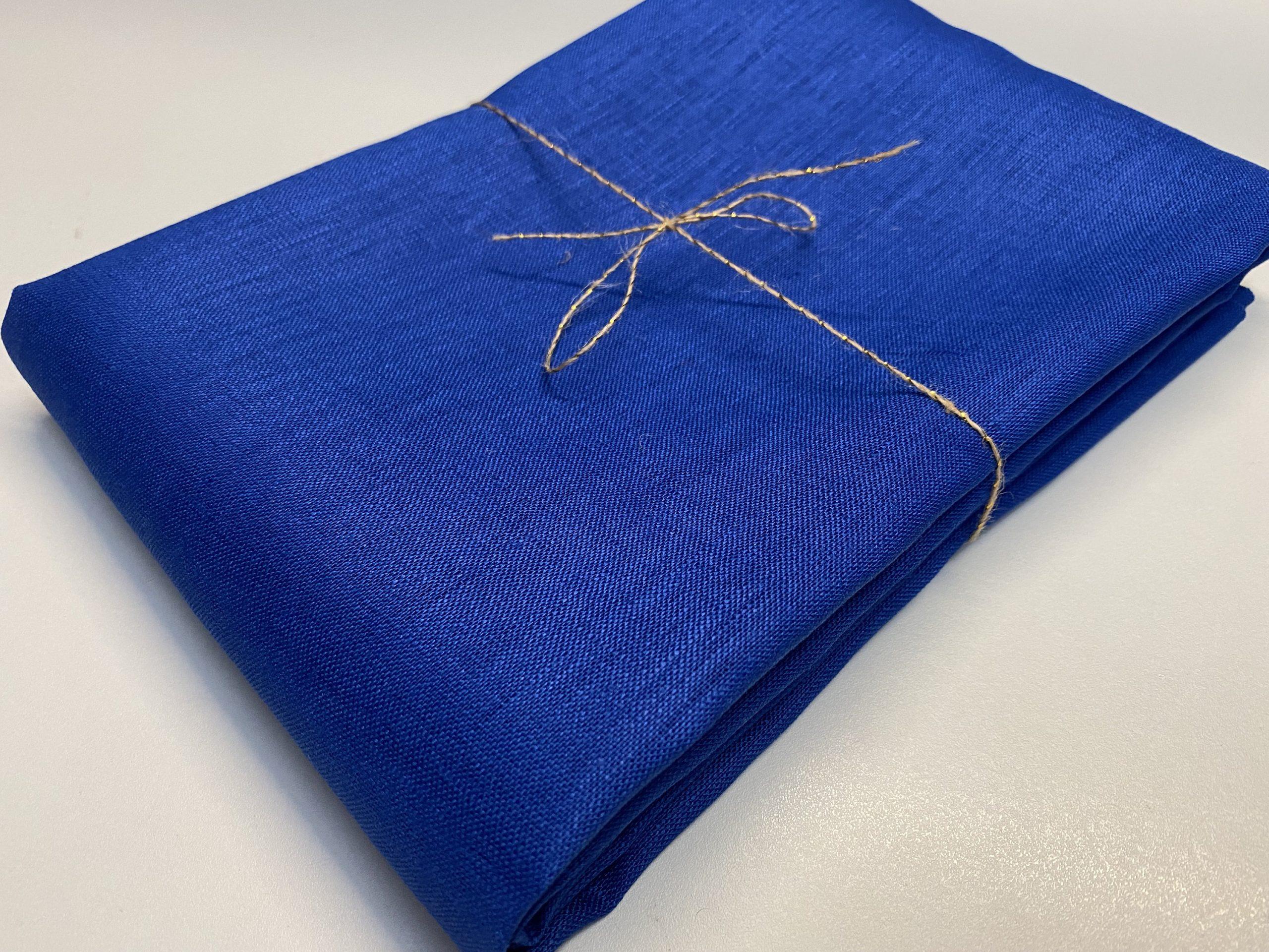 Soft Linen Fabric Material –  100% Linen for Home Decor, Curtains, Clothes – 140cm wide – Plain ROYAL BLUE