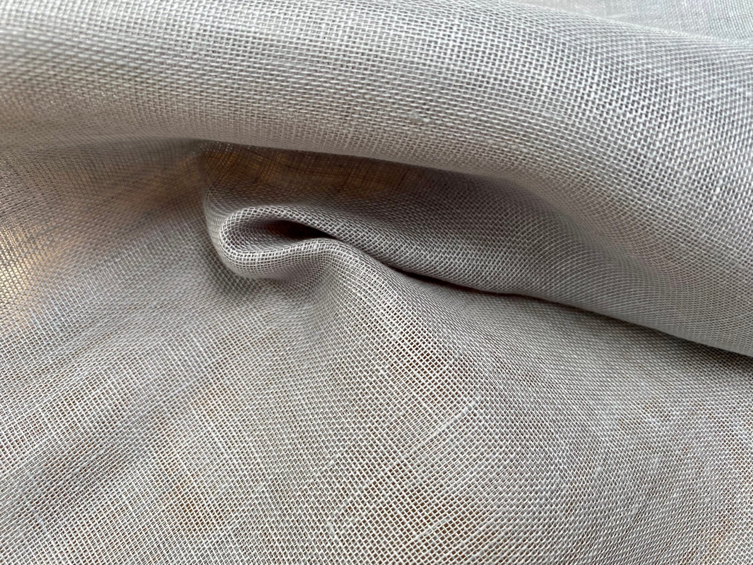 Extra Wide 100% Linen Fabric – Soft Linen Material for Home Decor, Curtains, Clothes – 118″/ 300cm wide – Plain GREY