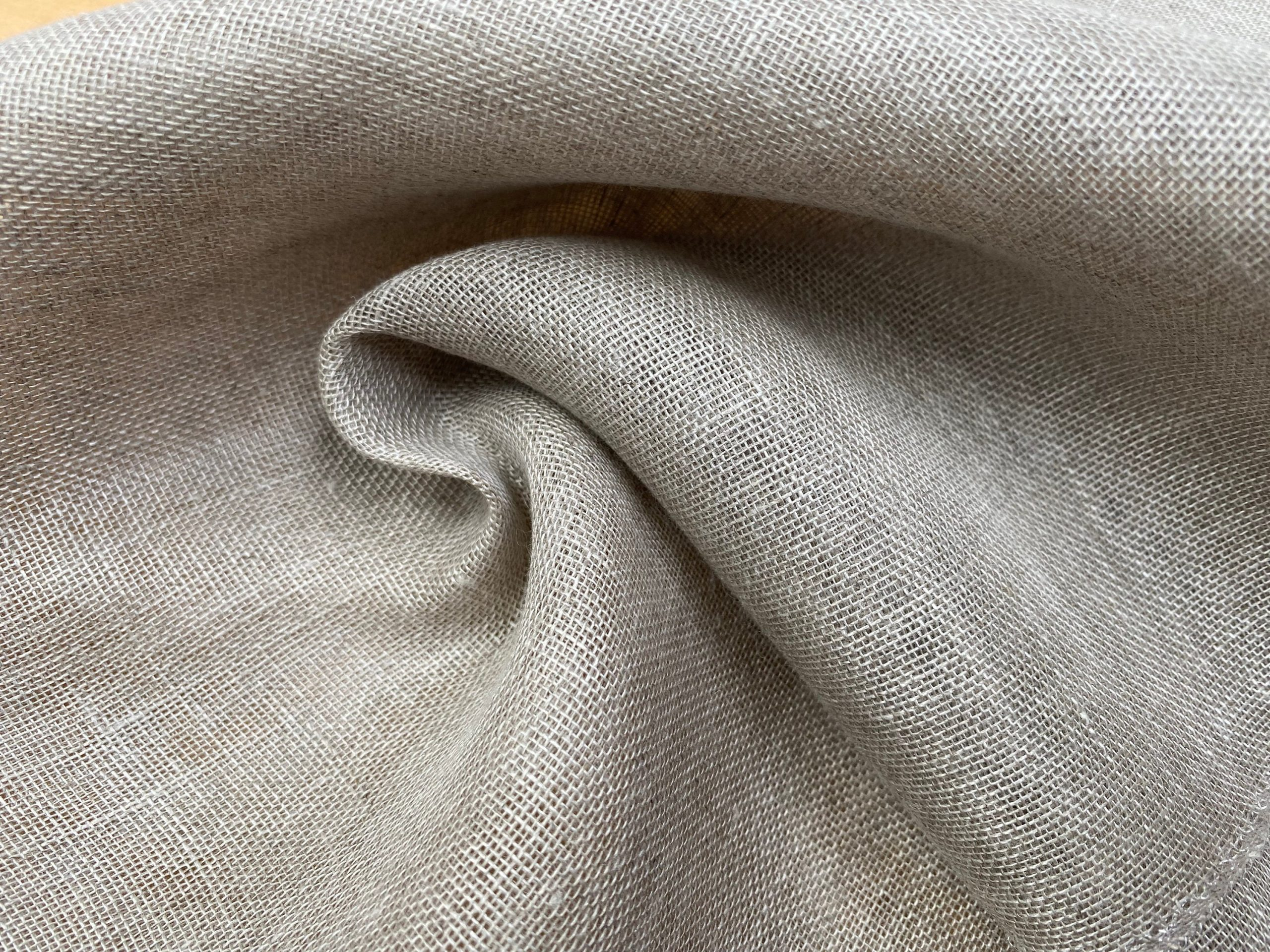 Extra Wide 100% Linen Fabric – Soft Linen Material for Home Decor, Curtains, Clothes – 118″/ 300cm wide – Plain NATURAL